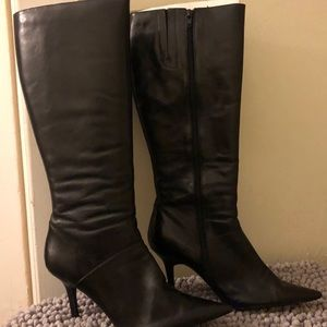 Leather tall Nine West Boots